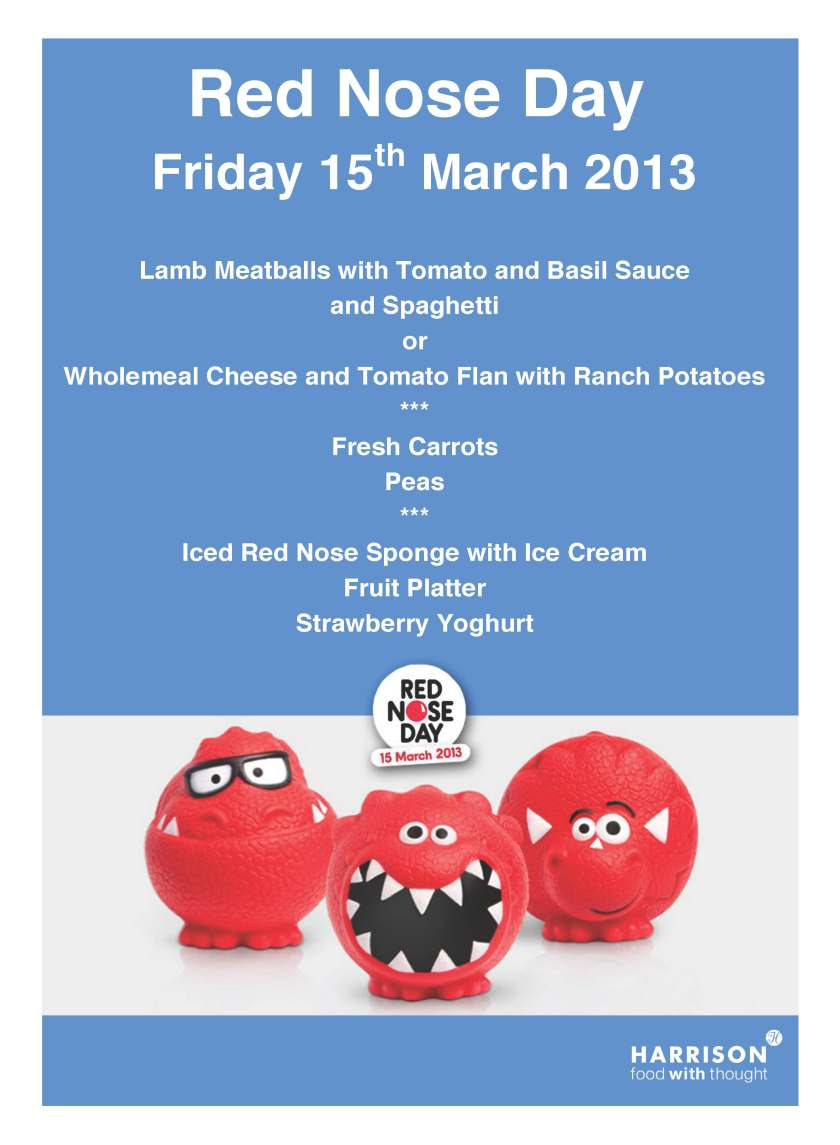 Red Nose Day Primary Menu