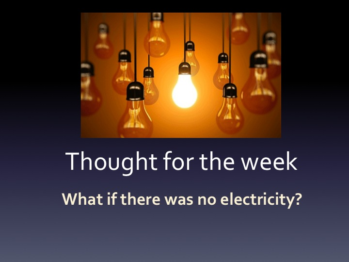 what if there is no electricity