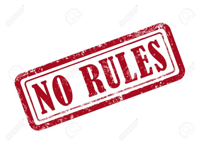 stamp no rules in red